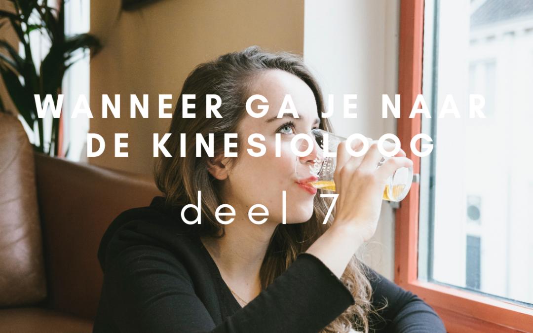 Wanneer ga je naar de kinesioloog – deel 7