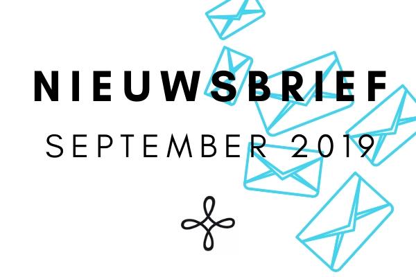 Nieuwsbrief September 2019